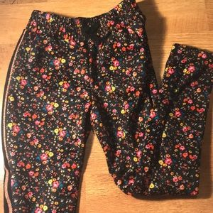 Girls Floral Joggers